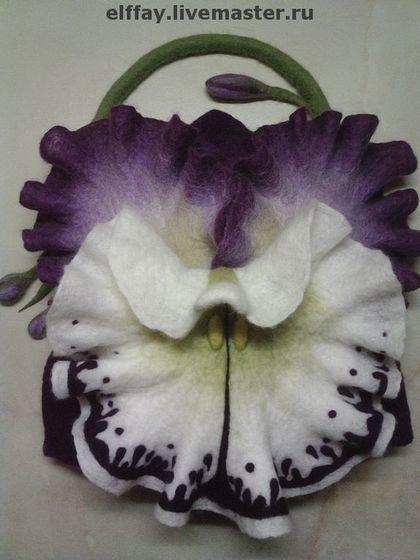 Tassen en accessoires handgemaakt.  Fair Masters - handgemaakte handtas bloem (orchidee).  Handgemaakt.