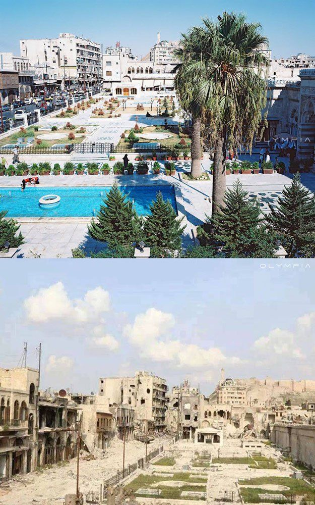 Once Syria's largest city, Aleppo has been the worst-hit city in the country since the Battle of Aleppo began in 2012 as part of the ongoing Syrian Civil War. Now a series of before-and-after photos reveals just how much the once-vibrant historical city has been marred by war. Olympia Restaurant, which calls Aleppo home, has […]