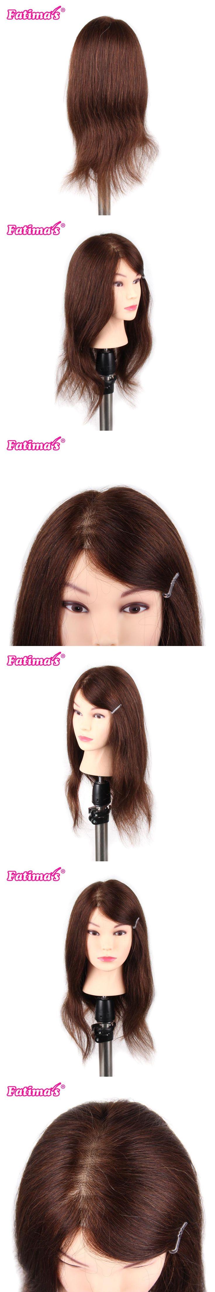 Fatimas100% Real Human Hair Beard Hairdressing Training Man Head Mannequin Doll Natural Hair High Quality Practice Training Head