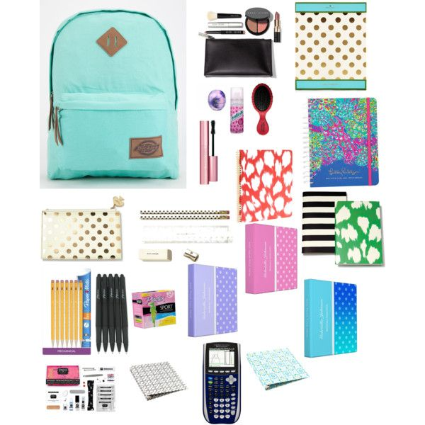 What's in my backpack by rkapoor on Polyvore featuring Dickies, Bobbi Brown Cosmetics, Too Faced Cosmetics, Pinch Provisions, Eos, Batiste, Kate Spade, Lilly Pulitzer and Playtex