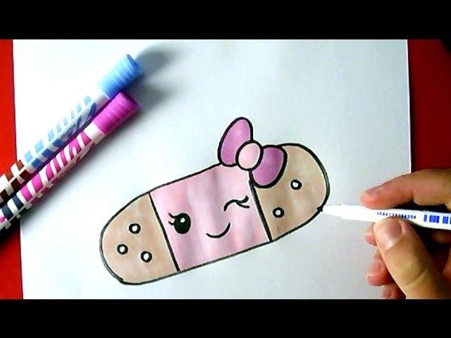 How To Draw A Cute Band Aid Como Dibujar Una Tirita