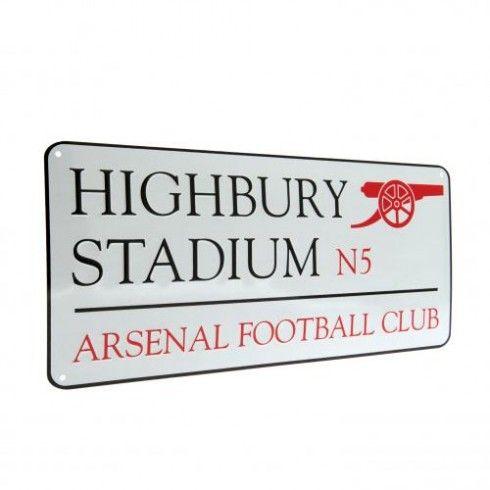 Arsenal F.C. Street Sign Highbury