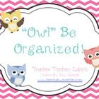 You are downloading my set of Owl Themed Teacher Toolbox Labels.   Please note that these labels are made to fit the 26 drawer cabinet from the Con...