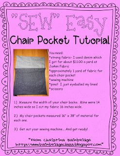 *SEW* Easy Chair Pockets!  Need a new project this summer?