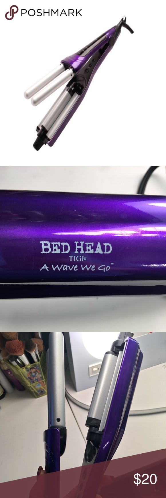 BED HEAD A-Wave-We-Go Adjustable Hair Waver BED HEAD brand hair waver with adjustable barrel for multiple wave settings and multiple heat settings. Used only once. BedHead Other