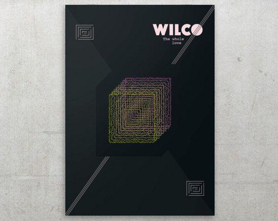 WILCO  The Whole love // Minimalist Music Poster por FlatMates, $22.00