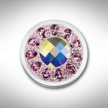 Mi Moneda munt Vivo Swarovski Lavender maat L