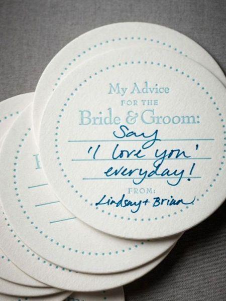 Marriage advice #unusual #wedding #guestbook