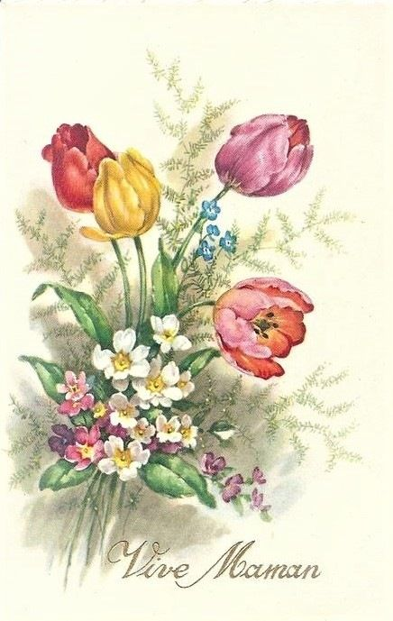 Открытка днем, тюльпаны рисунки открытки