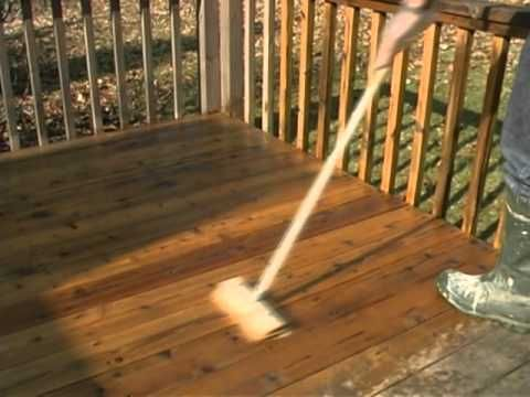 ▶ Wood Deck Refinishing HowTo - Stripping Cleaning And Protecting - YouTube