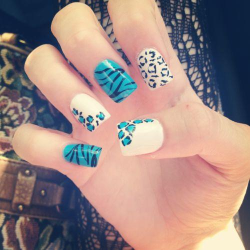 Leopard & Zebra Nails: Nailart, Nail Designs, Naildesign, Animal Prints, Nails, Zebra, Nail Ideas, Nail Art