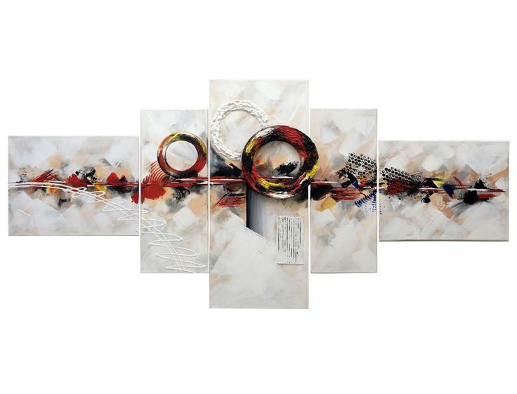 Naam: Cirkels serie 2 Afmetingen: 150x70 Extra informatie: handschilderd; acrielverf en oliverf op canvas doek; meegeschilderde zijkanten; direct op te hangen;  gesigneerd.