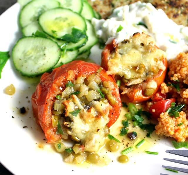 Gratinerte Tomater Ertefyll