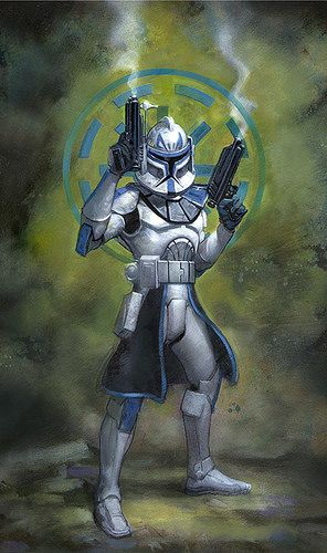 Captain Rex for Star Wars Miniatures: The Clone Wars art by Terese Nielsen