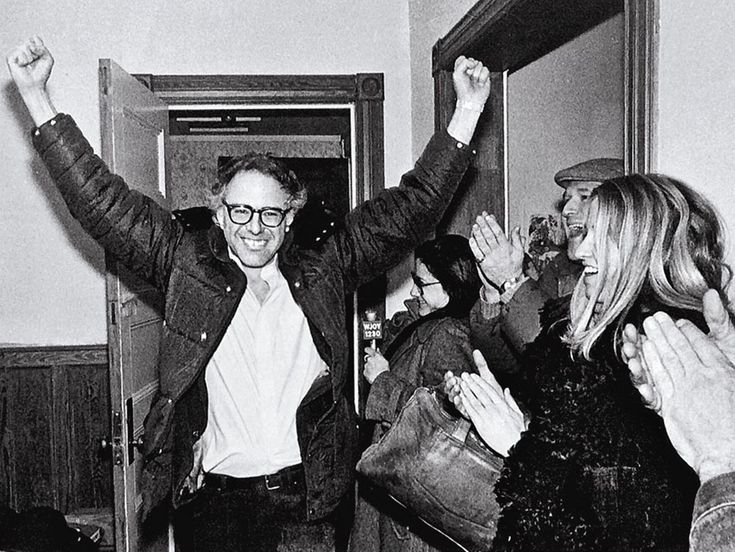 Sanders in 1981, after winning the mayoral election in Burlington, Vermont