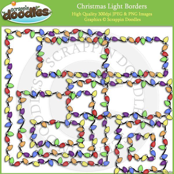 clip art christmas lights border - photo #40