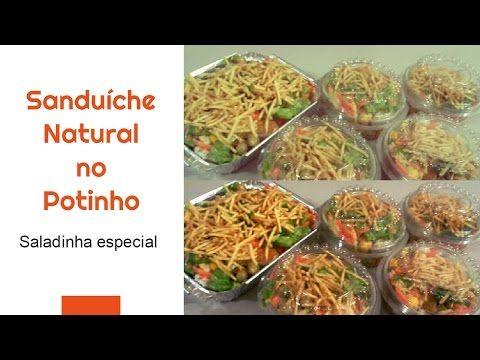 Sanduíche natural no potinho (legumes e salada) ### Fátima Paulista - YouTube