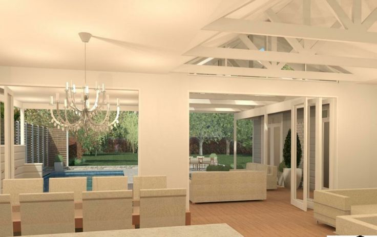 Here are our new house plans! We are building our dream Hamptons inspired home with award winning Adelaide builders Scott Salisbury Homes and this is a rendering of the view from the kitchen. I'm so excited about it! To follow our building progress and see more pics visit our blog at http://www.doingourblock.com/