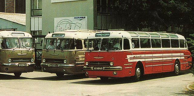 vintage bus ikarus | IKARUS type 55 bus in front of the old factory - Budapest | Flickr ...