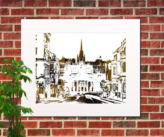 Edinburgh City Abstract City Art Edinburgh Home by ArtPrints4All