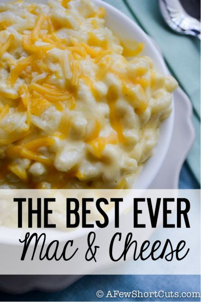 Without a doubt the BEST EVER Mac & Cheese #Recipe