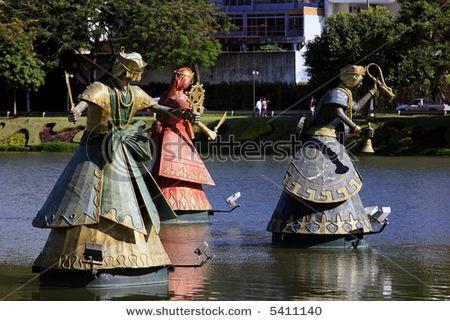 Orishas fountain in salvador