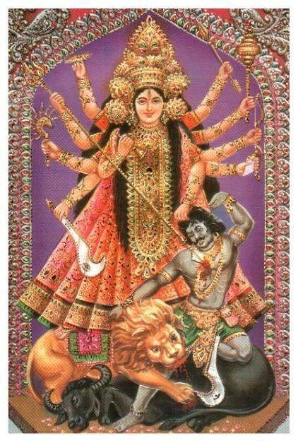 Durga (just before transforming into Kali?)