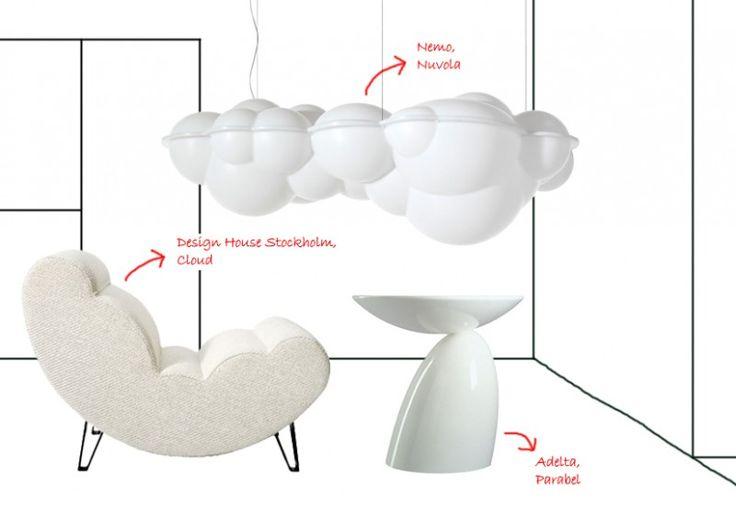clouds and design | #moodboard #clouds #design #white