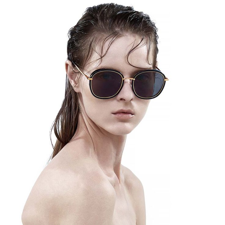 Gentle Monster MAD CRUSH 01 Black Gold Sunglasses On Sale,$105.99 Free Shipping