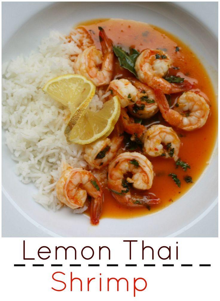 Easy Lemon Thai Shrimp Recipe. This quick simple shrimp recipe with ...