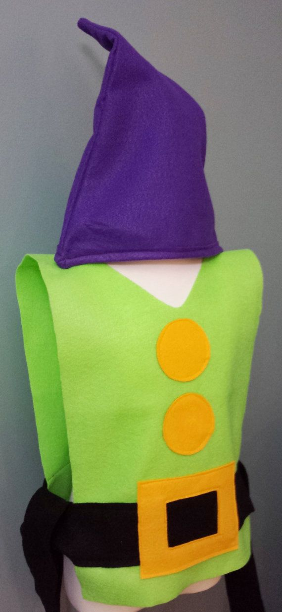 Adult / Big Kid Dopey Costume Set Snow by TeatotsPartyPlanning