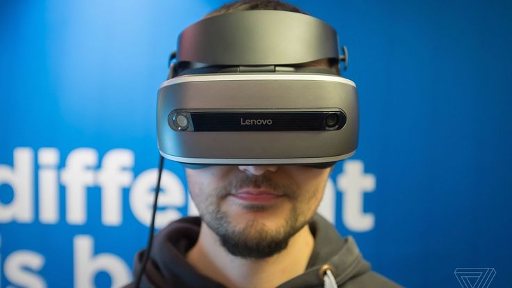 This is Lenovos Windows Holographic VR headset