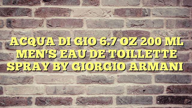 ACQUA DI GIO 6.7 OZ 200 ML MEN'S EAU DE TOILLETTE SPRAY BY GIORGIO ARMANI - http://thisissnews.com/acqua-di-gio-6-7-oz-200-ml-mens-eau-de-toillette-spray-by-giorgio-armani/
