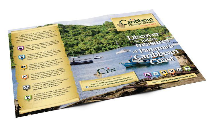 Caribbean Panama Network tri-fold brochure design