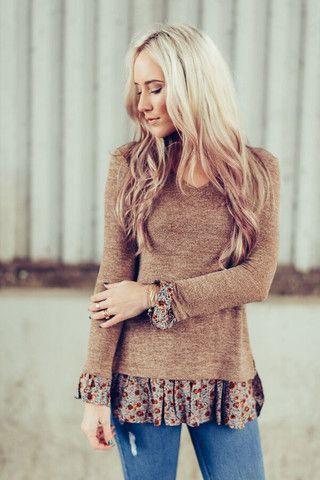 Take A Peek Sweater Tunic by Three Bird Nest | Bohemian Clothing