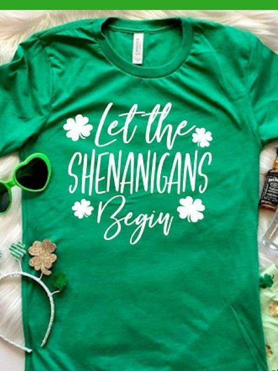 c44d0f5a Let the shenanigans begin, indeed! St Patricks day shirt funny shirt womens  mens st pattys day shirt #stpatricksday #stpatricksday #stpaddysday #casual  ...