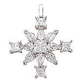 Winter magic snow star pendant