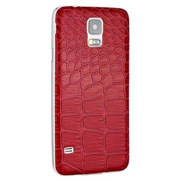 Rød bagcover til Samsung Galaxy S5 - Krokodille