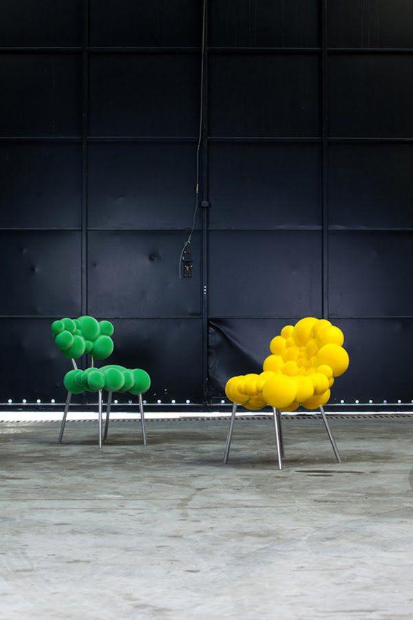 """Colección de muebles modernos """"Mutation Series"""", llevada a cabo por el genialdiseñador belga Maarten De Ceulaer,representa el estado biológico de los muebles en su desarrollo."""