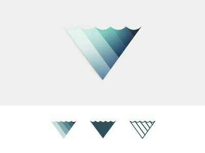 Waved triangle blue logo. Best logo design here  http://davidemancinelli.it/portfolio/creare-un-logo-azienda/
