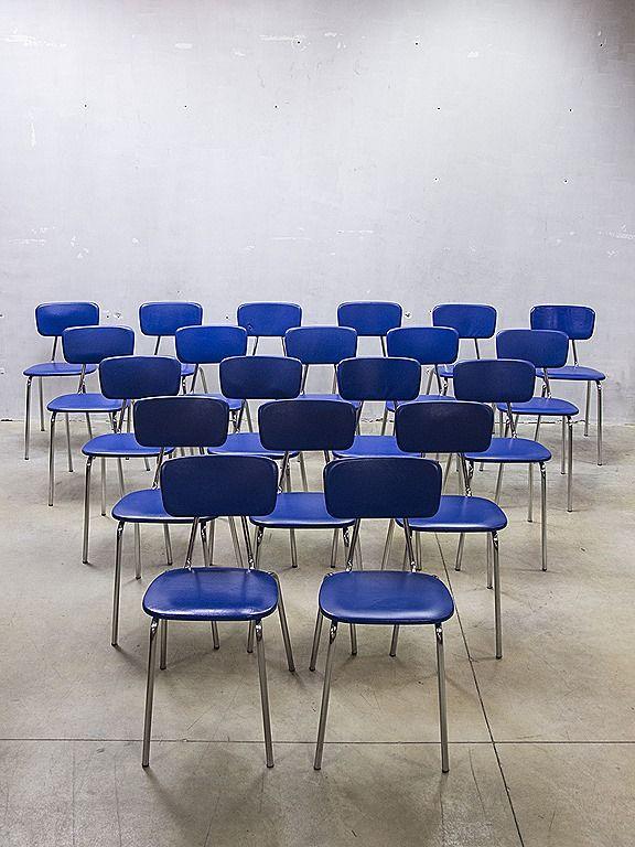 Partij retro eetkamer stoelen loft industrieel vintage stapelstoelen