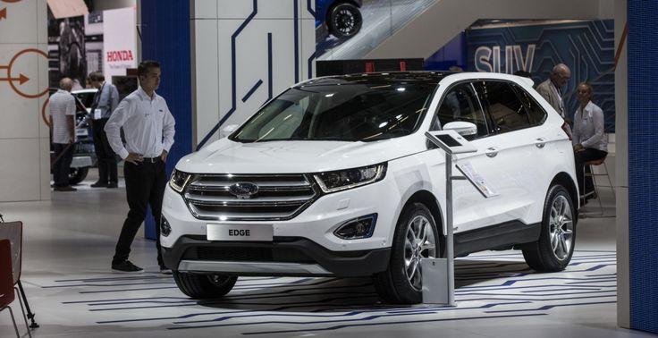 В рамках автошоу IIA-2015 во Франкфурте американская компания Форд провела европейскую премьеру модели Edge. В Европе новинка появится в начале 2016 г. и будет предлоджена с двумя дизелями мощностью 180 и 210 «лошадок». #кроссоверы #внедорожники #тестдрайвы #instafollow #ford #edge #edge2016