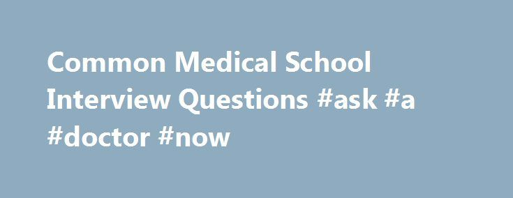 interview questions for doctors