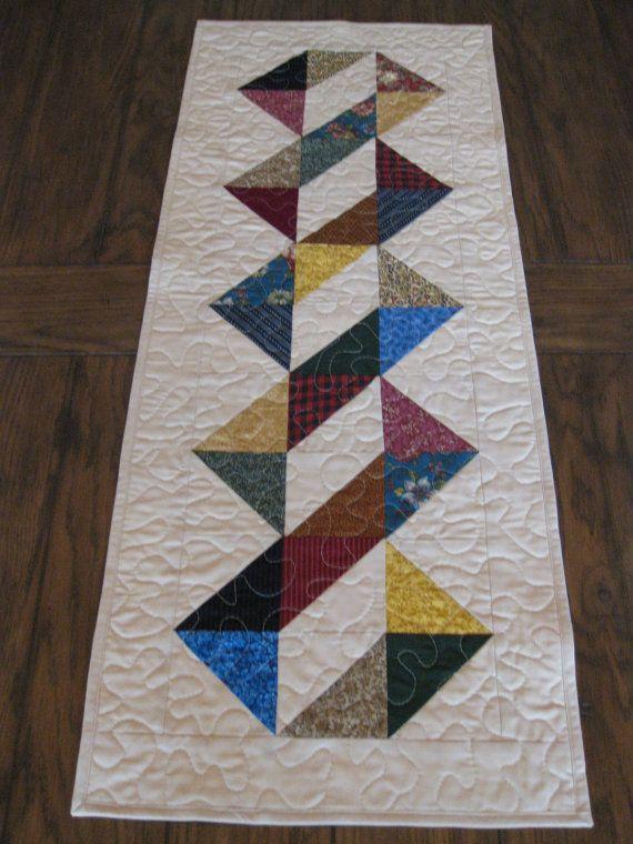 Corredor medio de la tabla de cuadrados triángulos