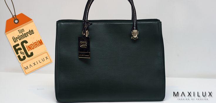 Şıklığı elden bırakmak istemiyorsanız indirimlerimizi kaçırmayın! Bu çanta için hala bir fırsatınız var!:) #Maxilux #Giyim #Marka #Moda #Çanta #Fashion #Brand #Bag