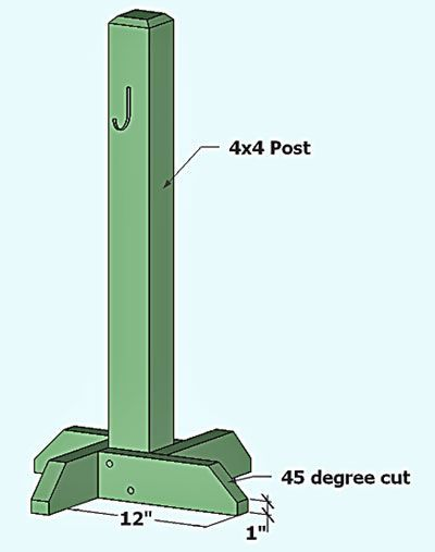 A Wreath Holder - no link, just this picture to help with construction