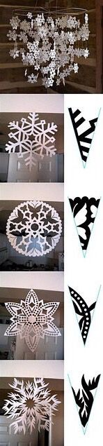Snowflake cutouts.