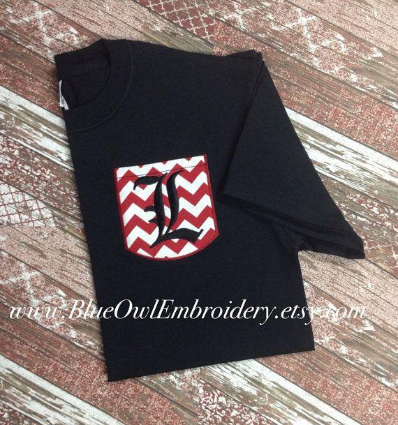 University of louisville custom pocket tee by for Louisville t shirt printing