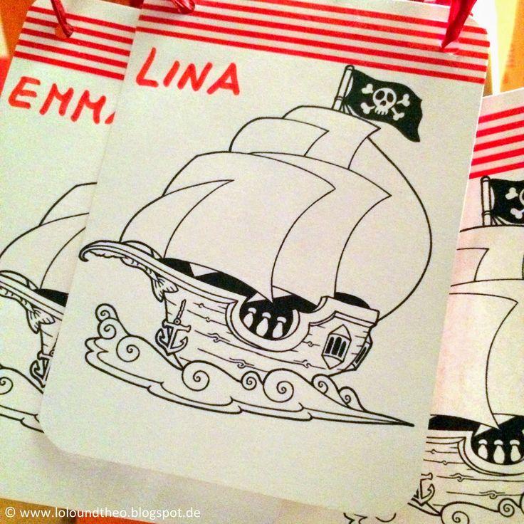 Piratenparty Kindergeburtstag Piratenausweis www.loloundtheo.blogspot.de