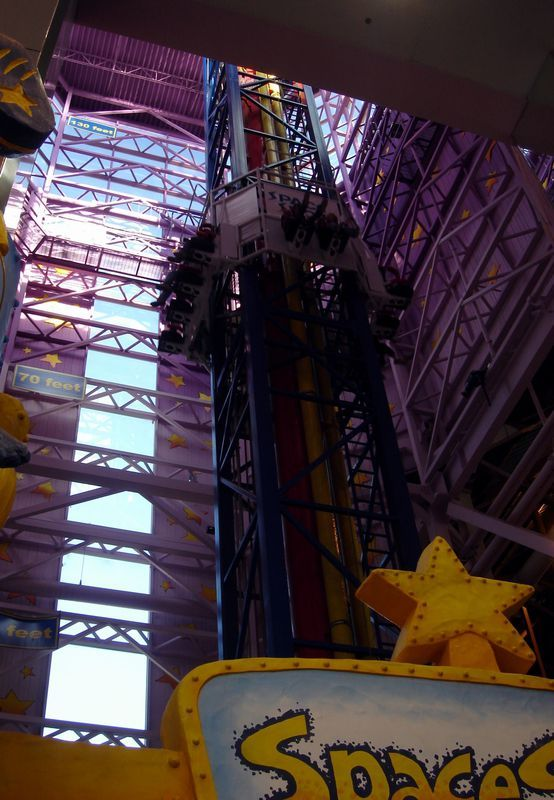 check out this url http://earth66.com/rides/space-shot-120ft-tallest-indoor-tower-ride-world-galaxyland-edmonton-canada/